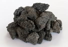 black lava rock
